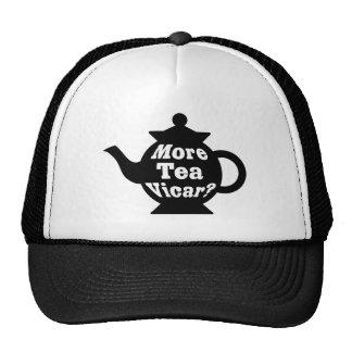 ¿Tetera - más vicario del té? - Blanco y negro Gorros