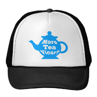 ¿Tetera - más vicario del té? - Mediados de azul y Gorro De Camionero