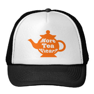 ¿Tetera - más vicario del té? - Naranja y blanco Gorro De Camionero