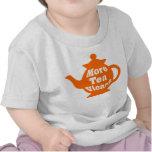 ¿Tetera - más vicario del té? - Naranja y blanco Camisetas
