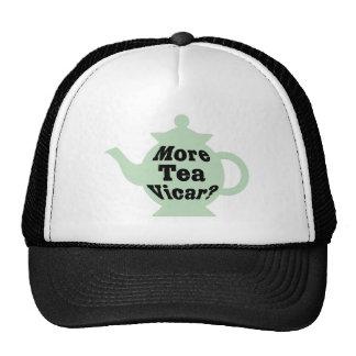 ¿Tetera - más vicario del té? - Negro en verde cla Gorras