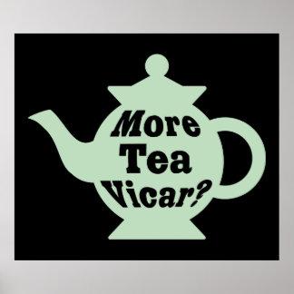¿Tetera - más vicario del té? - Palidezca - verde  Póster