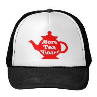 ¿Tetera - más vicario del té? - Rojo y blanco Gorras