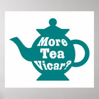 ¿Tetera - más vicario del té? - Trullo y blanco Póster