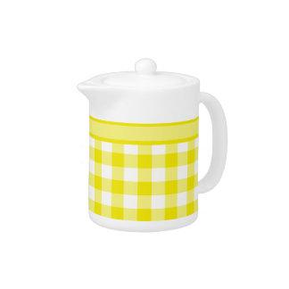 Tetera, modelo amarillo limón de la guinga del con