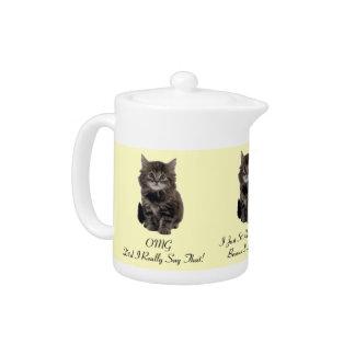 Tetera personalizada del gatito