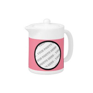 Tetera personalizada intrépida rosada de la foto
