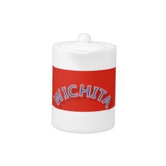Tetera roja y blanca de Wichita