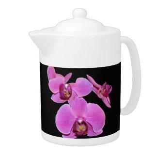 Tetera rosada de las orquídeas