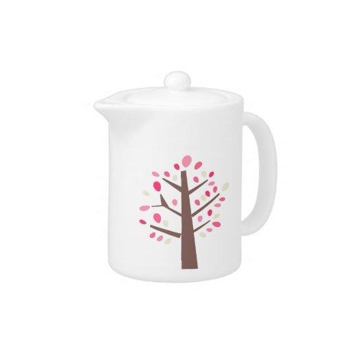 Tetera rosada del árbol