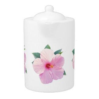 Tetera rosada del hibisco