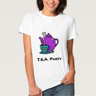 Tetera y fiesta del té camisas
