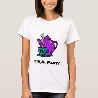 Tetera y fiesta del té playera