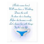 Tetera y ropa interior azules tarjetas postales