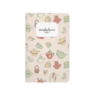 Teteras minúsculas cuaderno grapado