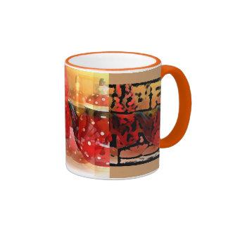 ¡Teteras rojas, intrépido y hermoso! Taza De Dos Colores