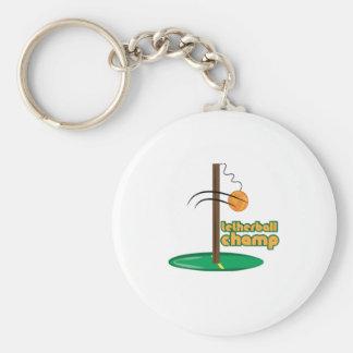 Tetherball Champ Basic Round Button Keychain