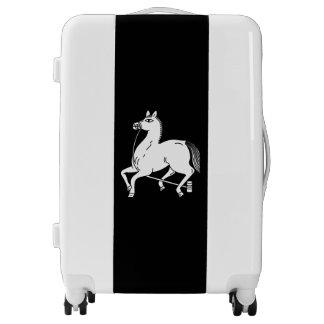Tethered champion horse luggage