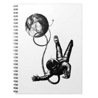 TETHERED!  (Outer Space art) ~ Notebook