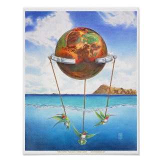 Tethered Sphere Poster