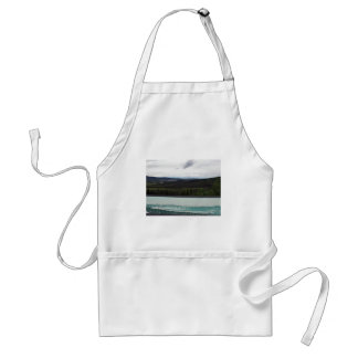 Tetlin's Visitor Sign & Scenic View Adult Apron