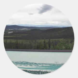 Tetlin's Visitor Sign & Scenic View Classic Round Sticker