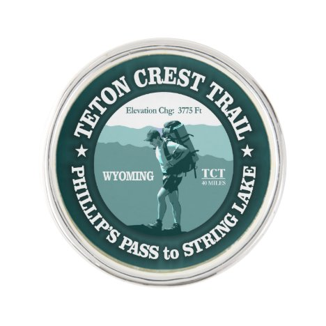 Teton Crest Trail (rd) Lapel Pin