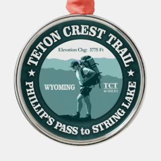 Teton Crest Trail (rd) Metal Ornament