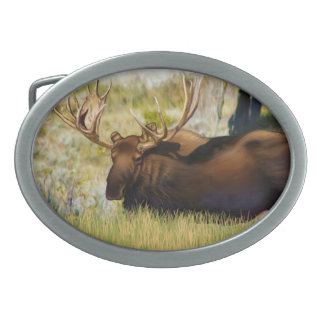 Teton King Moose Bull Belt Buckle