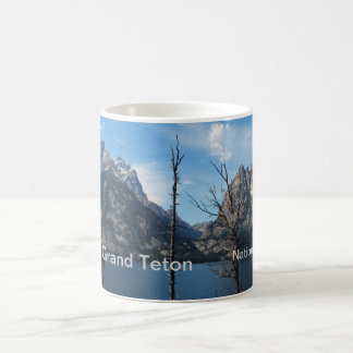 Teton magnífico, parque nacional de los E.E.U.U., Taza Básica Blanca