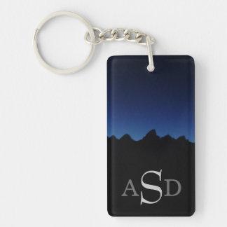 Teton mountain range monogram Single-Sided rectangular acrylic keychain