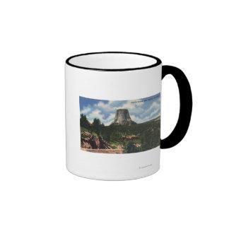 Teton National Park, WY - Devil's Tower near Ringer Coffee Mug