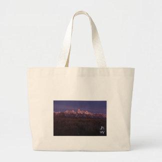 teton night large tote bag