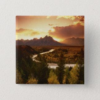 Teton Range at sunset, from Snake River Button
