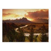 Teton Range at sunset, from Snake River Card