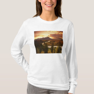Teton Range at sunset, from Snake River T-Shirt