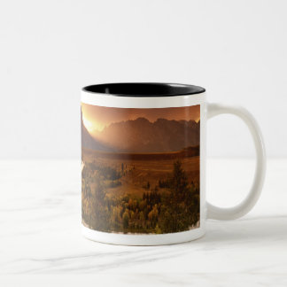 Teton Range at sunset, from Snake River Two-Tone Coffee Mug