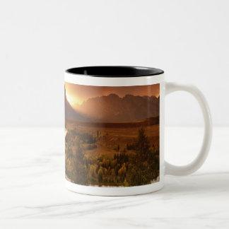 Teton Range at sunset, from Snake River Two-Tone Coffee Mug