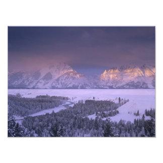 Teton Range from Snake River Overlook, Grand Photo Print