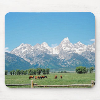 Tetons and Horses Mouse Pad