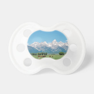 Tetons and Horses Baby Pacifiers