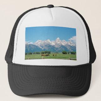 Tetons and Horses Trucker Hat