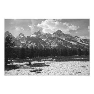 Tetons magnífico #2 en blanco y negro fotografías