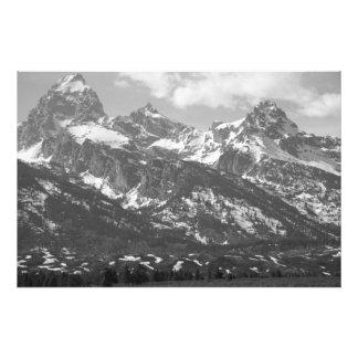 Tetons magnífico #4 en blanco y negro fotografía