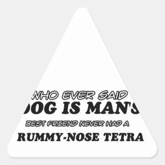 Tetra diseños del mascota de la nariz extraña pegatina triangular