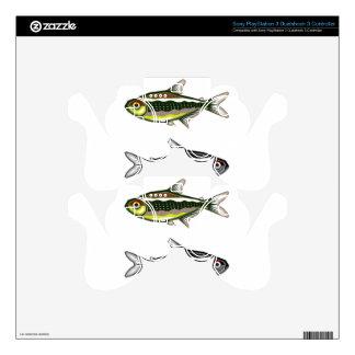 Tetra pescados de neón del acuario calcomanía para mando PS3