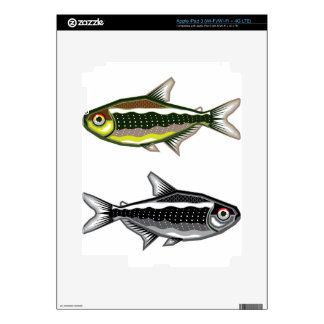 Tetra pescados de neón del acuario iPad 3 pegatina skin
