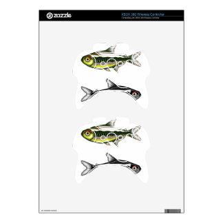 Tetra pescados de neón del acuario mando xbox 360 skin