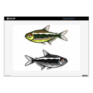 Tetra pescados de neón del acuario skins para 38,1cm portátil