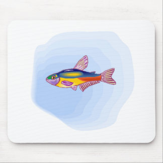 Tetra pescados de neón alfombrilla de ratón